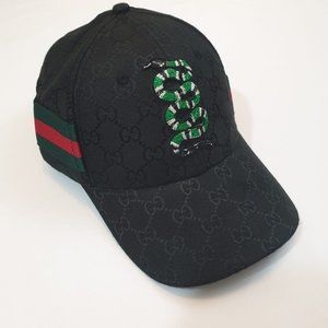 Gucci snake embroidered hat